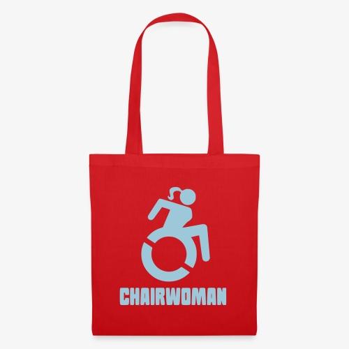 Rolstoel vrouw, chairwoman, dame in rolstoel, roll - Tas van stof