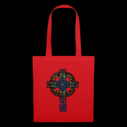 Celtic Cross - rainbow - Tote Bag