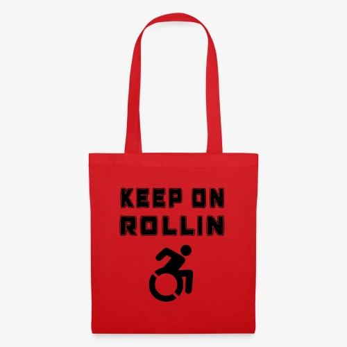 > Altijd blijven rollen met je rolstoel - Tas van stof
