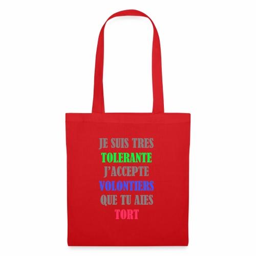 JE SUIS TOLERANTE - Tote Bag