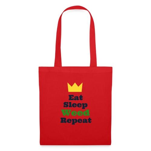 Eat Sleep Weed Repeat Tees by SeSQoOo - Tote Bag