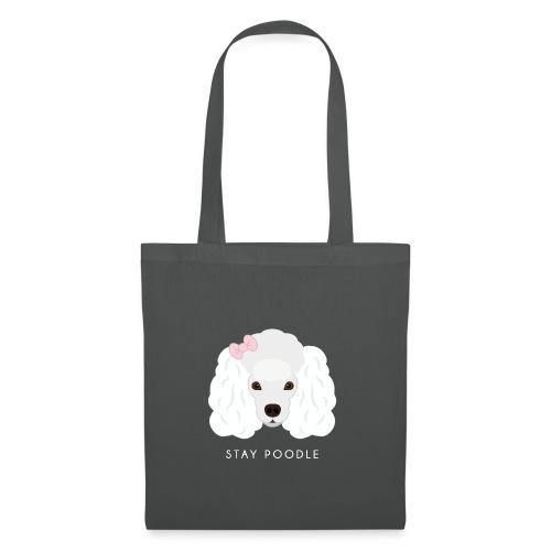 Poodle White - Borsa di stoffa