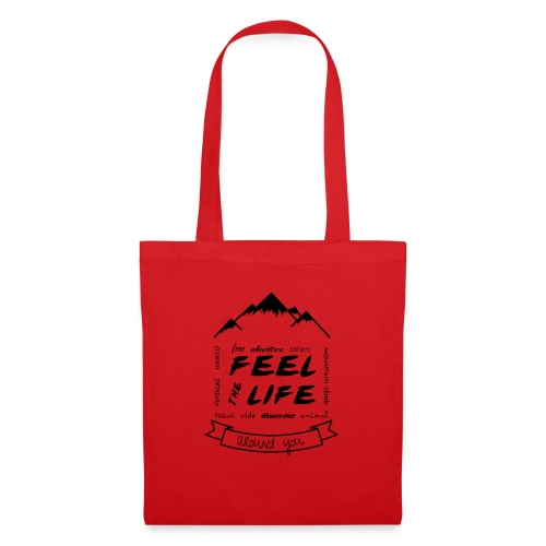 Feel the Life around you - Negro - Bolsa de tela