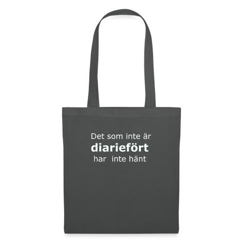 diariefört vit - Tygväska