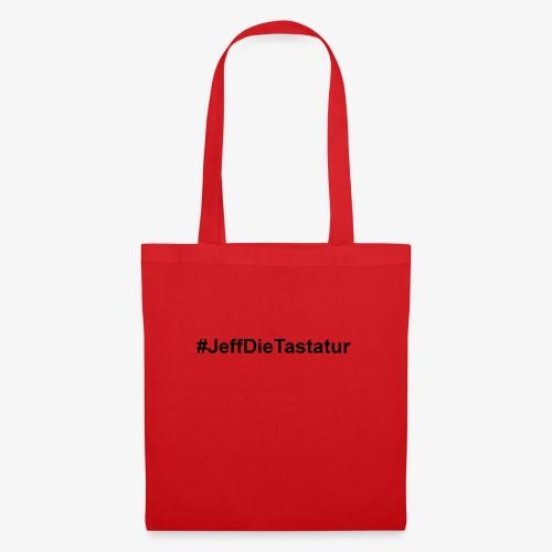 hashtag jeffdietastatur schwarz - Stoffbeutel