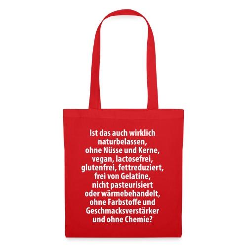 bio vegan Lactose Farbstoff Chemie glutenfrei fett - Tote Bag