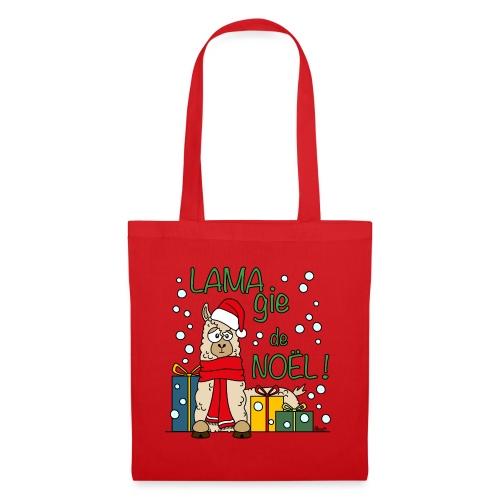 Lama, Magie de Noël, Happy Christmas, Pull moche - Tote Bag