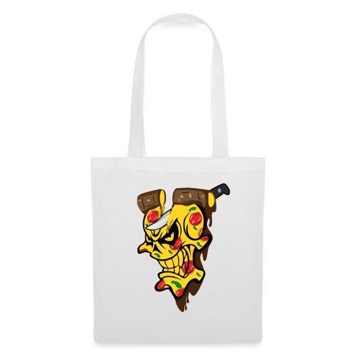 Pizza Schädel mit Messer - Stoffbeutel
