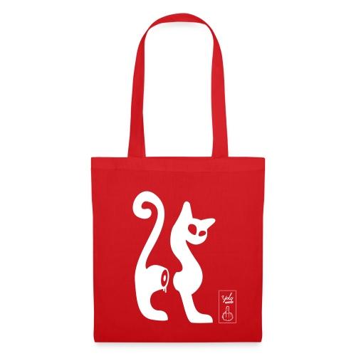 cut-cat 1 couleur - Tote Bag