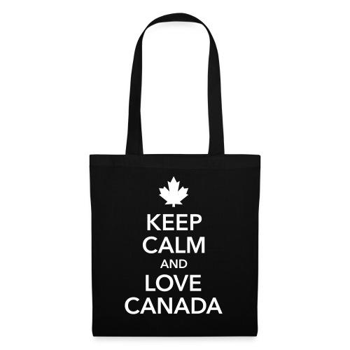keep calm and love Canada Maple Leaf Kanada - Tote Bag
