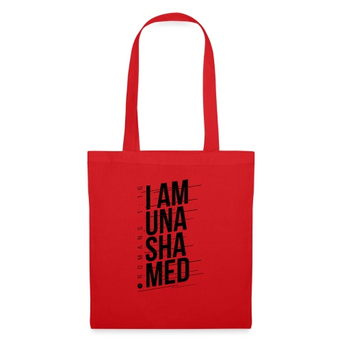 I am Unashamed Romans 1:16 Christian T Shirt - Tote Bag