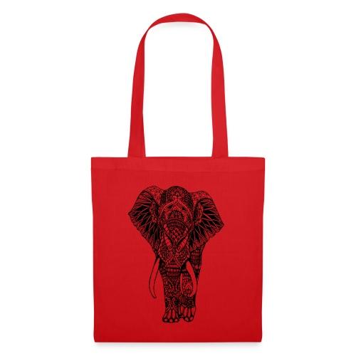 Good Luck Mandala Elephant Designer Animal Love - Tote Bag