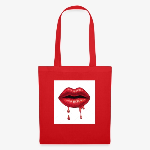 Red ripping Lips - Tote Bag