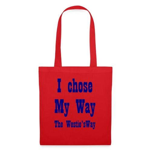 I chose My Way Navy - Tote Bag