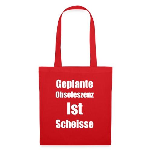 Obsoleszenz Weiss Schwarz - Stoffbeutel