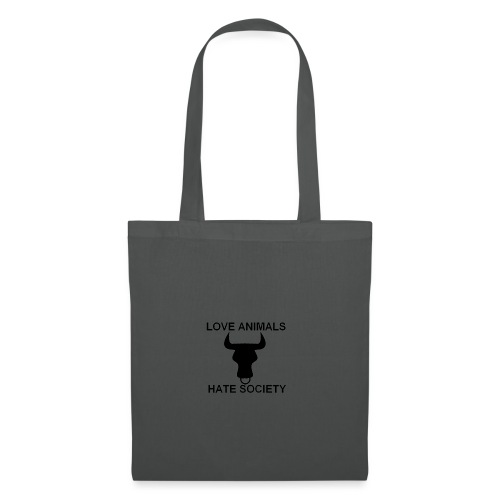 LOGO LOVE ANIMALS HATE SOCIETY - Tote Bag