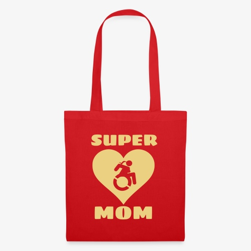 Super mama in rolstoel, moeder in rolstoel, mama - Tas van stof