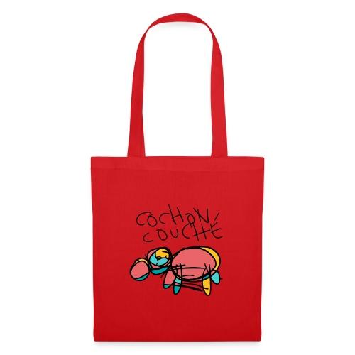 cochon couche v1 - Tote Bag