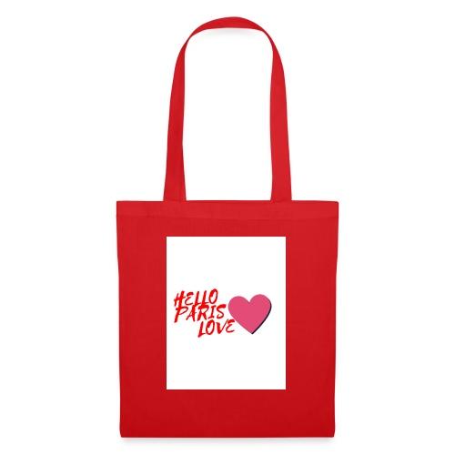 hello paris love rouge - Tote Bag