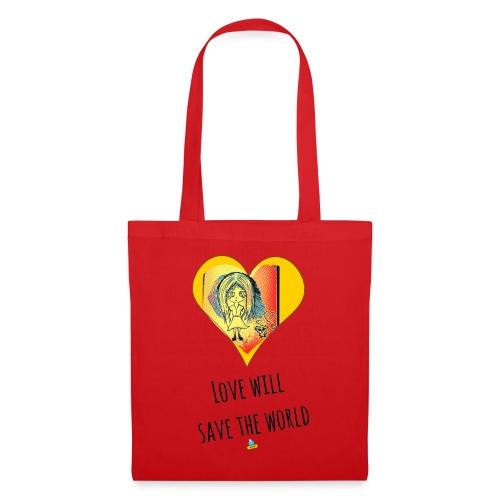 Love will save the world - Borsa di stoffa