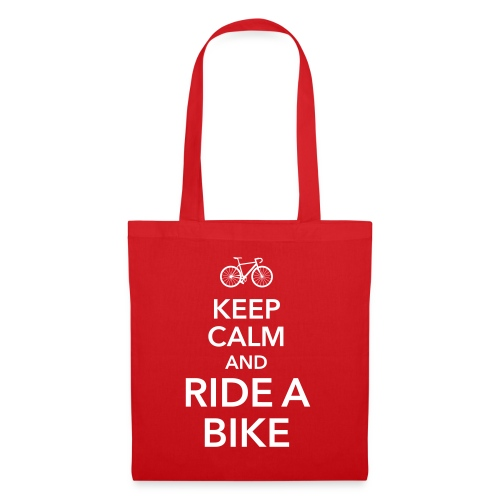 keep calm and ride a bike Fahrrad Sattel Drahtesel - Tote Bag