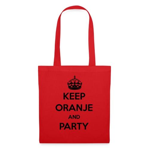 KEEP ORANJE AND PARTY - Tas van stof