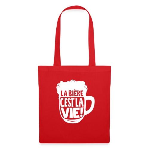 bière, la bière c'est la vie - Sac en tissu