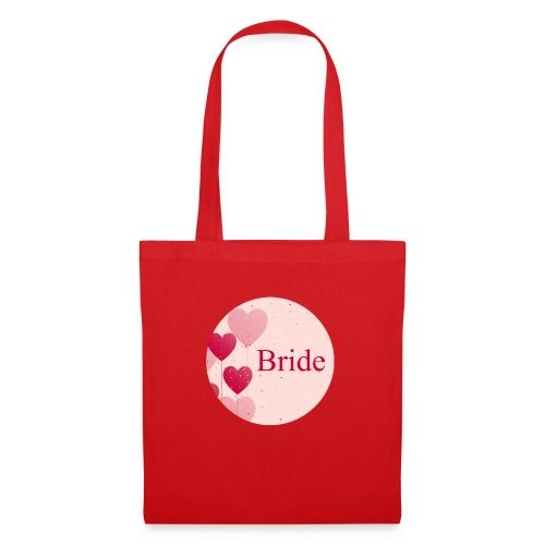 Bride Heart pink rund - Stoffbeutel