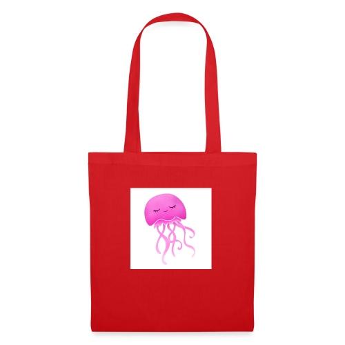 Cute little pink Jellyfish, nursery wall art decor - Borsa di stoffa