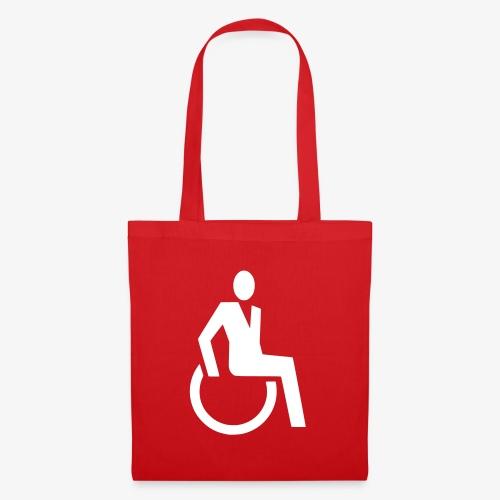 Sjieke rolstoel gebruiker symbool - Tas van stof