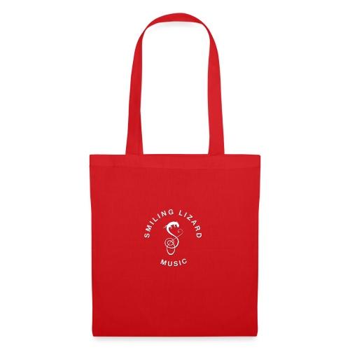 Smiling Lizard Music Logo weiß - Stoffbeutel