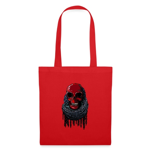 RED Skull in Chains - Tote Bag
