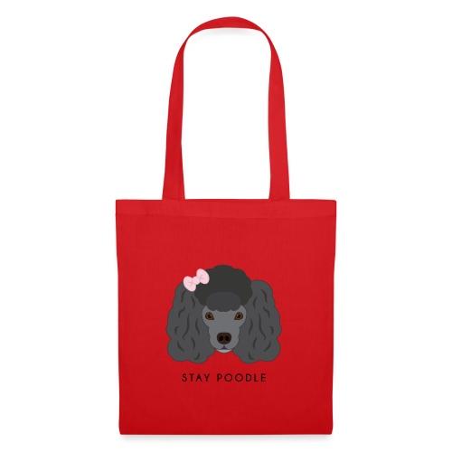 Poodle Black - Borsa di stoffa