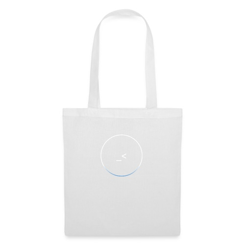 White and white-blue logo - Tote Bag