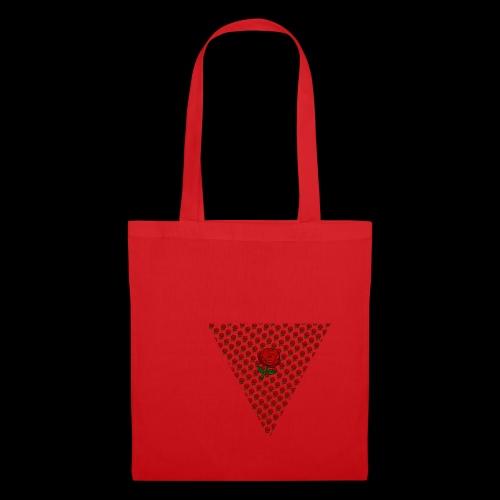Dreieck Rose - Stoffbeutel