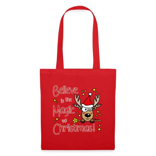 Renne, Magic of Christmas, Happy Christmas, Noël - Tote Bag