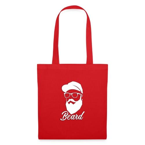 beard en blanco - Bolsa de tela