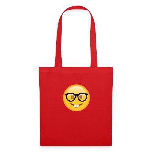 Nerd with Glasses Emoji - Tote Bag