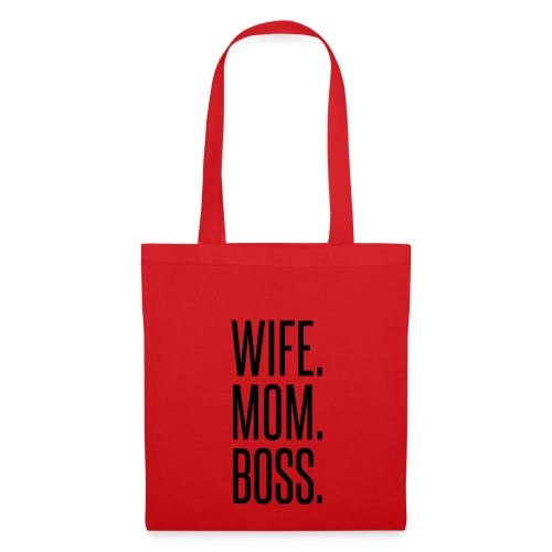 WIFE.MOM.BOSS. - Borsa di stoffa