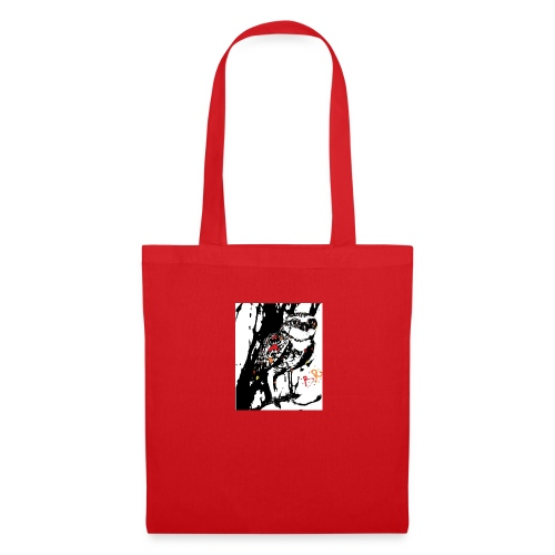 Fire Burrowing Owl with monocle - Tote Bag