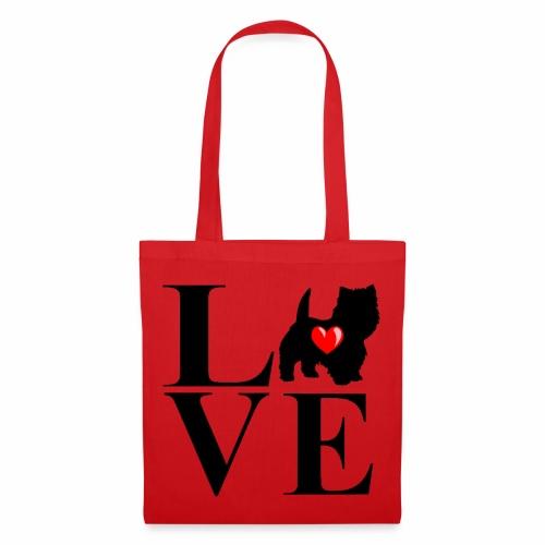 westie love design - Tote Bag