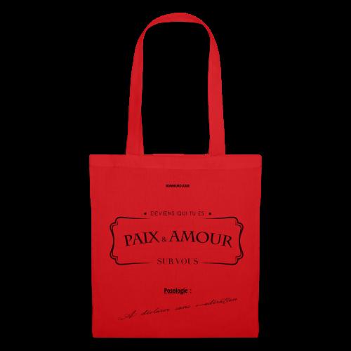 Aller Plus H4ut - Paix & Amour - Noir - Tote Bag