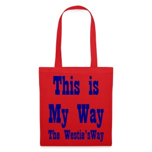 This is My Way Navy - Tote Bag