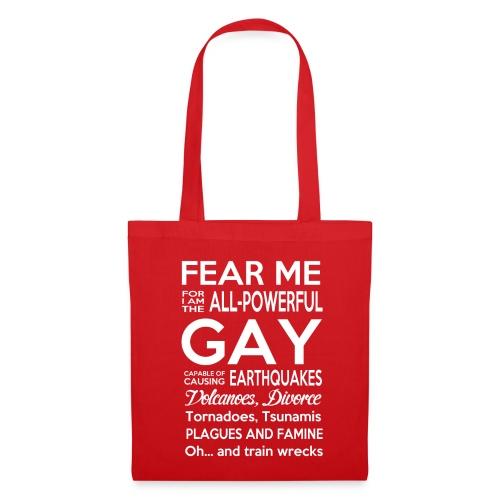 LGBT Powerful Gay Homosexuellen Motiv Englisch CSD - Stoffbeutel