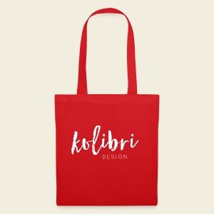 Logo Kolibri Design weiss - Stoffbeutel