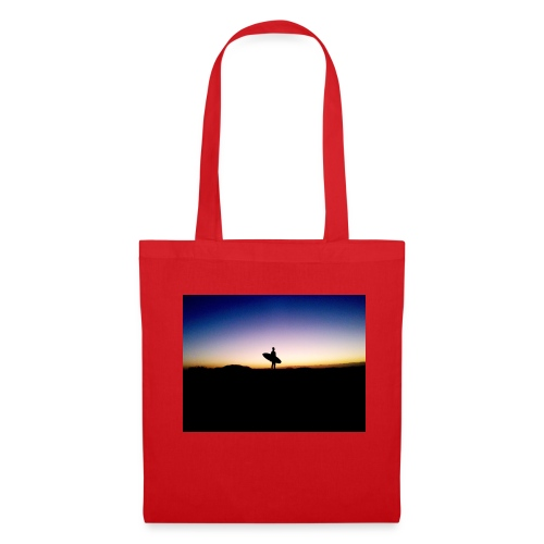 Surfer Sunset Silhouette - Tote Bag