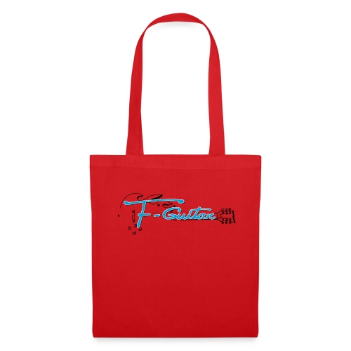 F-Guitar_fond_clair_T-Shirt - Tote Bag