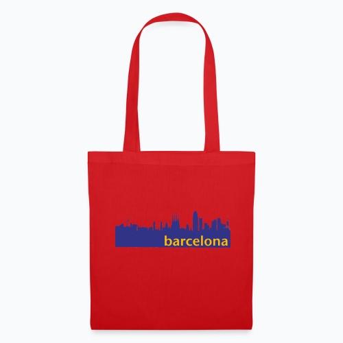 camisa con perfil de Barcelona - Bolsa de tela