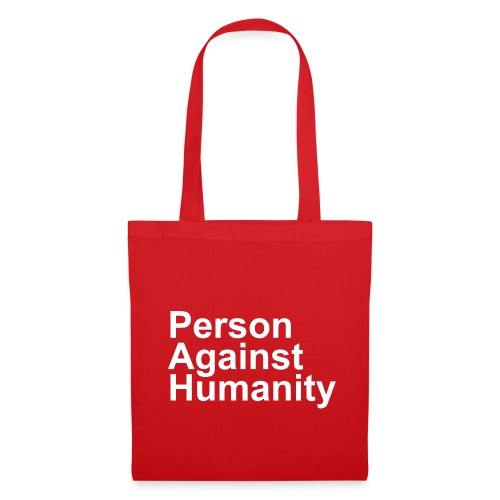 PERSON AGAINST HUMANITY BLACK - Tote Bag
