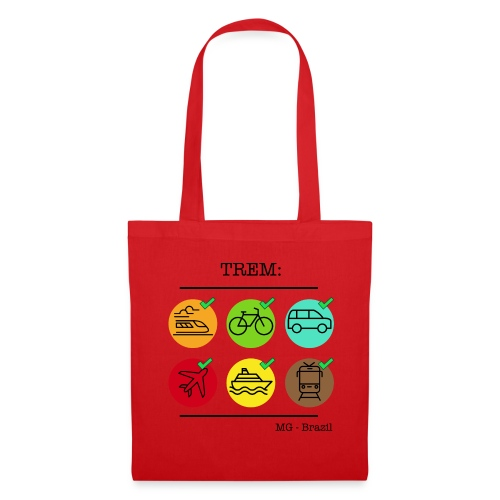 Um trem é um trem - A train is a train - Tote Bag